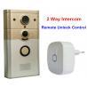 China PIR Smart Wifi Video Doorbell , Wifi Intercom Doorbell Support  2 Way Talk wholesale