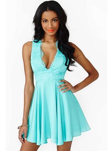 Quality Sexy Deep V Neck Mini Dress for sale