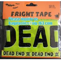 China Rolls Halloween Caution Party Tape,Party halloween banner , plastic streamer caution party tape, fright tape bagease wholesale