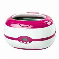 China Jewelry Ultrasonic Cleaner with 600ml Capacity, Available in Pink, Gray and Blue wholesale