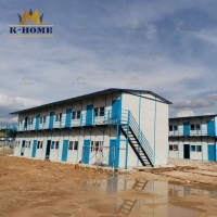 China Tempoary Movable Low Cost Sandwich Panel House For Camp on sale