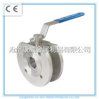 China China supplier stainless steel cf8m/cf8 1PC Flanged ball valve wholesale
