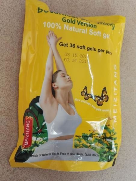 MSV Gold Version MZT Meizitang Yellow Bag Slimming Caps Softgel for Women Lose Weight Herbal Diet Pills Yellow Meizitang
