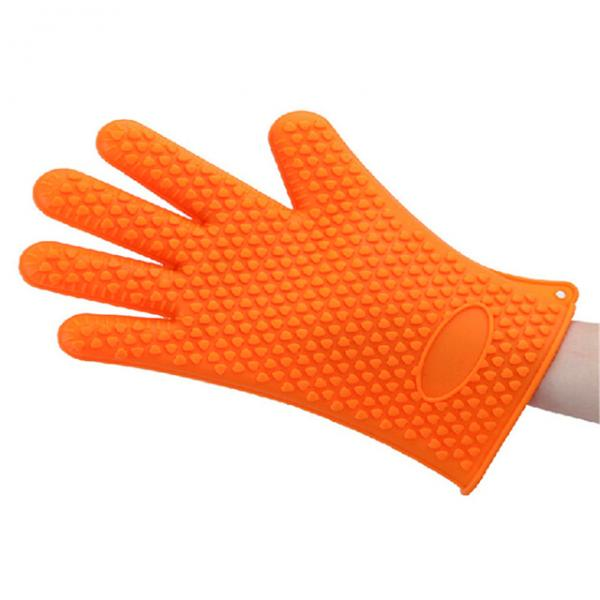 Quality Non Toxic Silicone Baking Set Size Customized Heart Shaped Silicone BBQ Gloves for sale