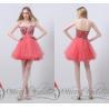 China Beading Crystals Girls Homecoming Dresses Tulle Sweetheart Short wholesale