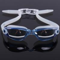 China Mirror Coated Lenses Anti Fog Swim Goggles Anti Shatter , Easy Release Head Strap wholesale