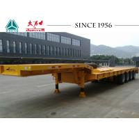 China 4 Axles Low Bed Trailer Truck 40-70 Ton Capacity With Mechanical Suspension wholesale