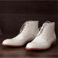 China Handmade goodyear men boots shoes genuine leather on sale