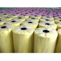 China Yellow Polypropylene Nonwoven Fabric For Home Textile , Tearing Strength wholesale