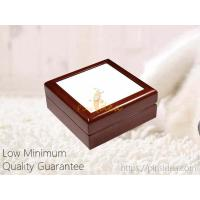 China Cheap Affordable Wholesale Small Order Wooden Keepsake Memorial Pet Urn Box with Picture Frame, Laser Engrave Logo on sale
