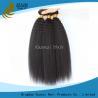 China Recto rizado de la Virgen del pelo de la Virgen india sin procesar de las extensiones ningún vertimiento wholesale