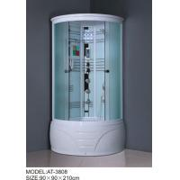 China 900mm quadrant shower enclosure white painted chrome Color with top light wholesale