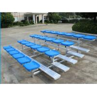 China 4 Row Lightweight Aluminum Bleacher Seats Space Saving Quick Assembly wholesale