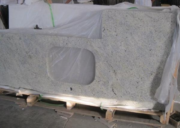 """Quality Customized Kashmir White Granite Countertops , Kitchen Cabinet Countertop 43""""X22"""" for sale"""