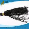 Natural Black Malaysian Deep Curly Hair , Brazilian Virgin Hair Kinky Curly for sale