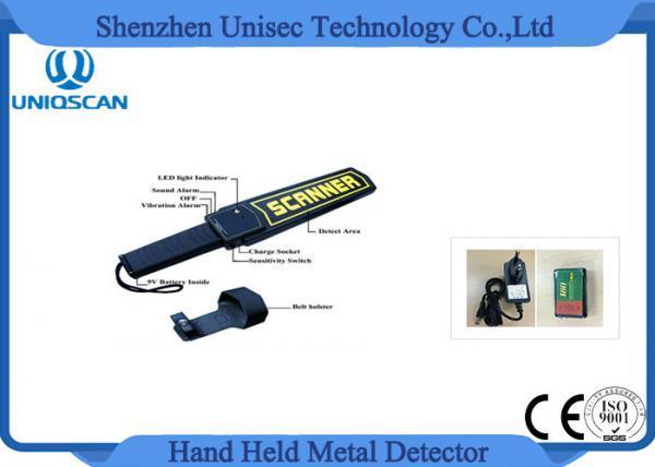 Quality Dé el detector de metales de la vara con la batería 9V para la seguridad que comprueba a la prisión del metro del aeropuerto for sale