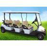 China Carro de golf de la persona de las ruedas 6 del blanco cuatro, cochecillo legal del golf del camino con el tejado largo wholesale