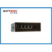 China Aluminum Material Industrial Ethernet Switch , Lightweight 5 Port Ethernet Switch Din Rail wholesale
