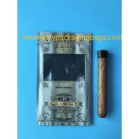 China Manufacturers custom-made sales gold printing cigar packaging moisturizing zipper bag wholesale