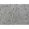 China Gray Quartz Kitchen Countertops , Polished Granite Bathroom Countertops wholesale