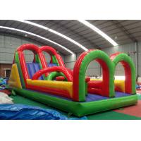 China Jumping Colorful  Inflatable Obstacle Course Bouncer 3 Years