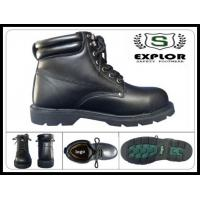 China mens full grain leather boots steel toed work boots for men rubber boots wholesale