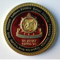 China Metal US Army Military Coins With Soft Enamel / Dye Black Zinc Alloy Material wholesale