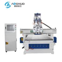China X Y Z Axis 3 Head Wooden Cnc Router Engraving Machine With Italy HSD Brand Spindle wholesale