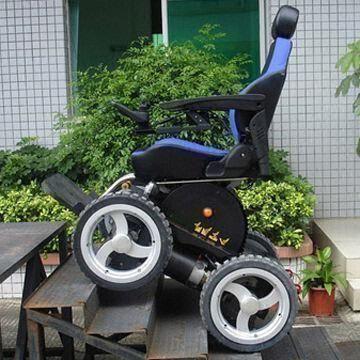 Viking 4x4 all terrain wheelchair for Motorized chair stair climber electric evacuation wheelchair electric wheelchair