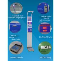 China Bmi Analysis Digital Height And Weight Scale Coin Operated 1 Year Warranty wholesale