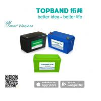 12.2kg Smart Bluetooth Lithium Battery Deep Cycle Batteries , Green Blue Black