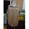 China 100% Viscose Womens Fashion Tops Bow Back Waist Button Up Shirts  Tops Elastic Cuff wholesale