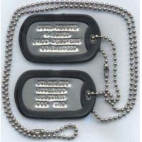 China Dragon Design Dog Tags with Colorful Rubber Silencer wholesale