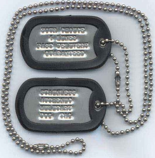 Dragon Design Dog Tags with Colorful Rubber Silencer