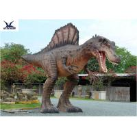China Attractive Animatronic Jurassic Dinosaur Garden Statue Mouth Movement With Sounds wholesale
