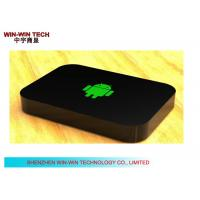 China Multi Language Android HD Media Player , Black TV Media Player Box wholesale