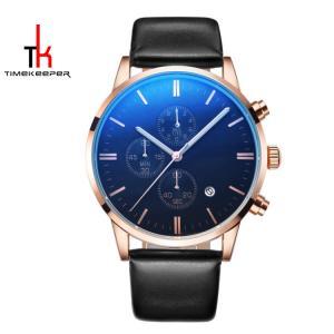 China Fashion Alloy Quartz Mens Watch Perpetual Calendar Water Resistant on sale