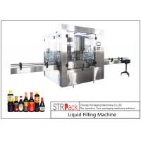 China 24 Head Nozzle Automatic Liquid Filling Machine For 0.5 - 2L Wine / Soy Sauce wholesale