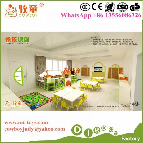 High quality mordern preschool wooden furniture sets made