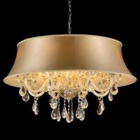 Buy cheap Tiered crystal chandelier with Lampshade (WH-CY-109) from wholesalers