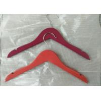 China Non Slip Red Childrens Clothes Hangers Wooden Kids Coat Hangers Without Bar wholesale