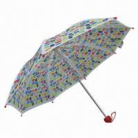 China Colorful Print 3-folding Umbrellas, small order accepted  wholesale