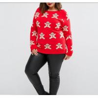 China snowman design adult clothing longsleeve plus size women red xxxxl christmas jumpers wholesale