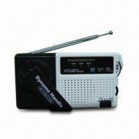 China Dynamo AM/FM Radio with Rechargeable Battery Power and Mobile Phones Charging Facility wholesale