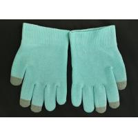 China Blue Colour SPA Cotton Cosmetic Gloves Highly Effective Softening Hands on sale