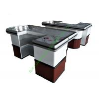 Buy cheap Custom Build Cash Register Checkout Counter / Supermarket Cash Wrap Counter from wholesalers