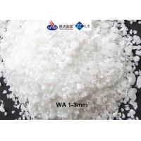 China High Refractoriness Fused Aluminum Oxide , 3 - 1 Mm White Fused Alumina For Refracrory on sale
