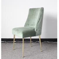 Buy cheap Event wedding single chair wooden chair with velvet stainless steel legs chair from wholesalers