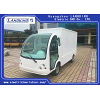 Buy cheap Iron Container Electric Luggage Cart / Small Cargo Vans With 2 Seats / Door from wholesalers