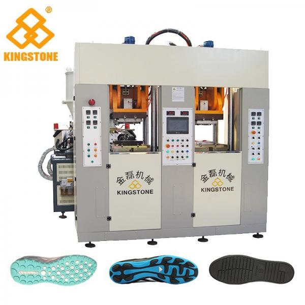 Quality Static Type Double Stations TPR Sole Making Machines Two Injector 70-100 Pairs Per Hour for sale